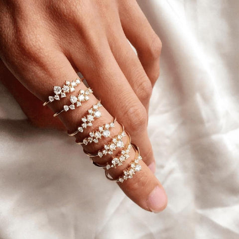 Fashion Weave Crystal Ring