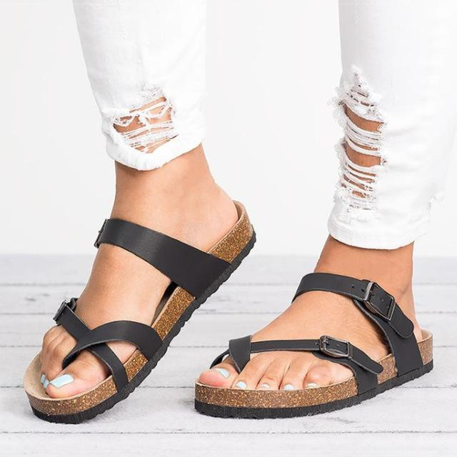 Flip Flops Plus Size 35-43 Flat Sandals Beach Summer Casual Shoes