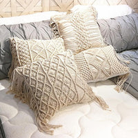 Cotton Linen Macrame Hand-woven Cotton Bohemia Cushion Cover