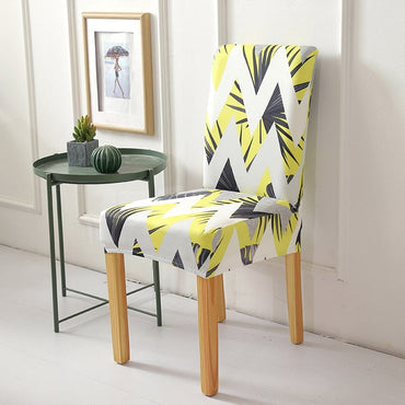 Stripped Cross Pattern Chair Covers