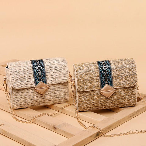 Round Straw Summer Weave Straw Bag