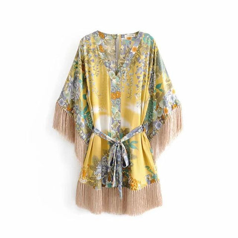 Gypsy Willow Tassel Mini Dress
