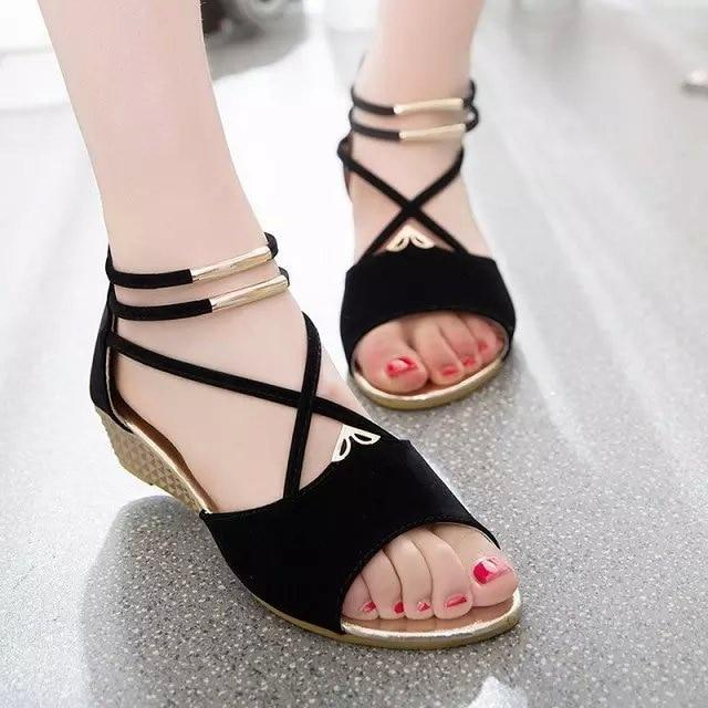 Bandage Bohemia Leisure Lady Sandals Peep-Toe Outdoor Shoes