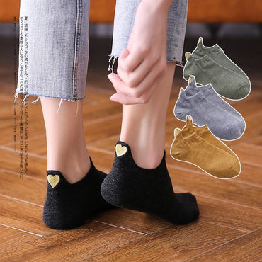 Fashion Ankle Girls Cotton Color Novelty Casual Socks