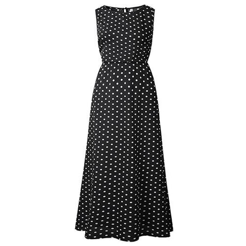 Dot Print Sleeveless Summer Dress