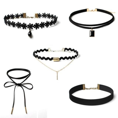 Diomedes Necklaces 5 Pieces Choker Necklace