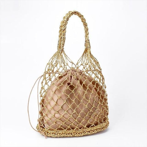 Ropes hollow cotton lining Totes bag