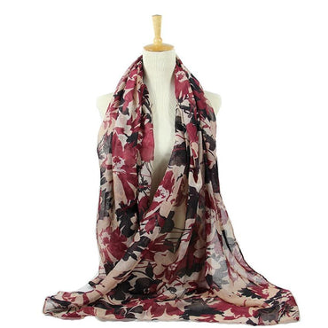 Autumn Retro Painting Floral Scarf
