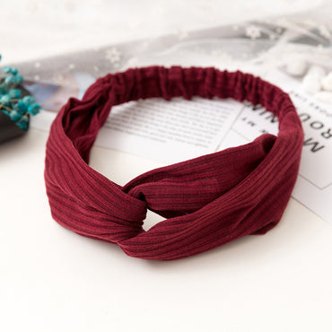 Vintage Cross Knot Elastic Headband