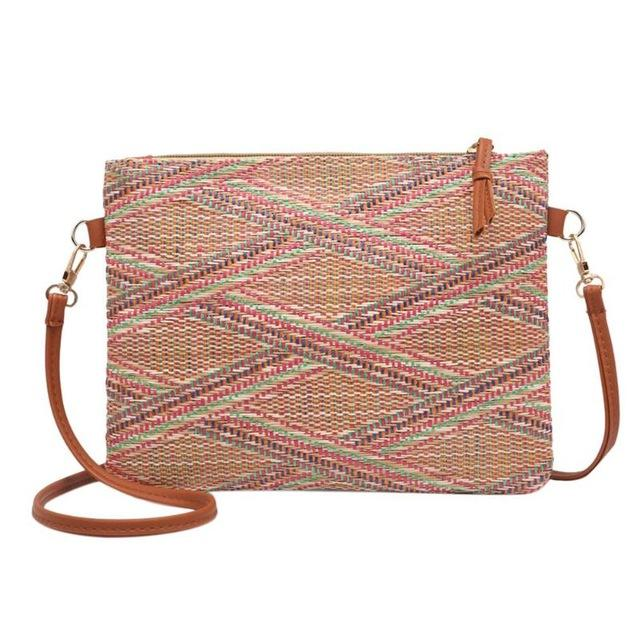 Bohemian Style Striped Shoulder floral Messenger Bags