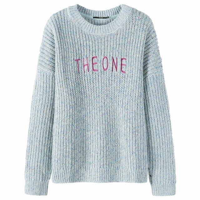 Pullover O-neck Women Thicken Sweater