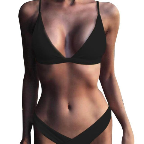 Solid Sexy Bathing Suits Bikini Sets