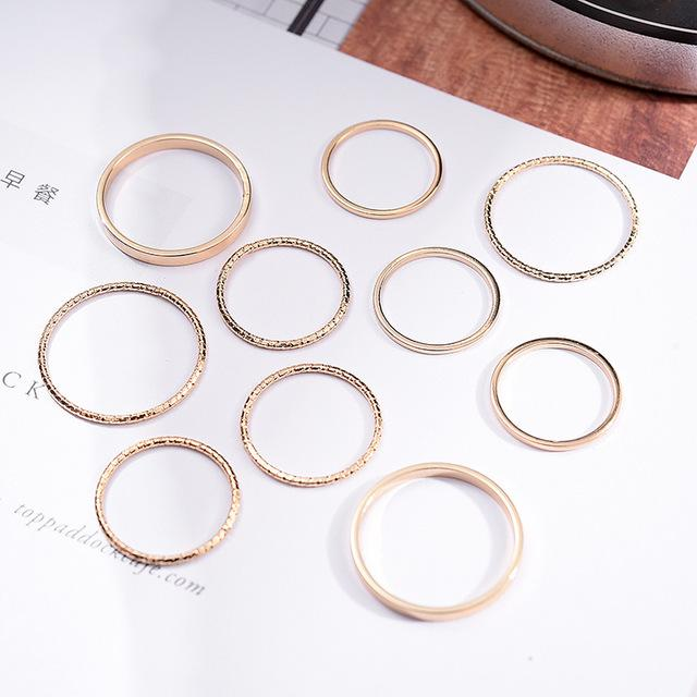 ten individuality combination contracted ring set