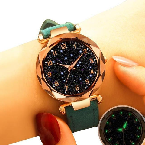 Fashion Black Star Watch Minimalism Dial Analog Quartz Wristwatch