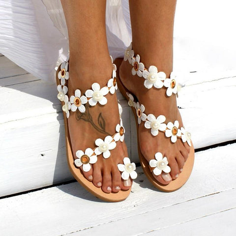 Bohemia Flower Flat Shoes