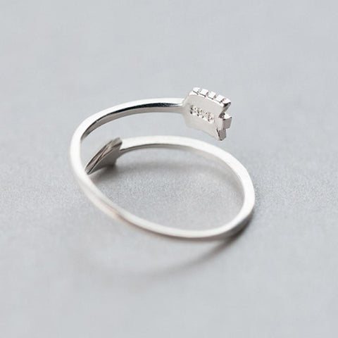 Plain Polished Love Arrow Toe Adjustable Ring