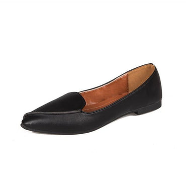 Casual Slip On Flats Pointed Toe Shallow Low Heel Ballerinas Shoes