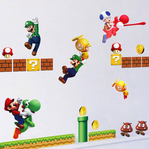 Super Mario Wall Stickers for Kids