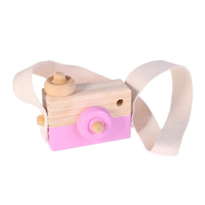 Wooden Toy Kids Camera