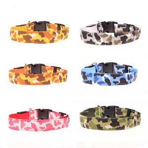Nylon LED Camouflage Dog Collar