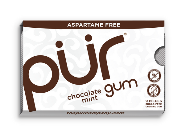 Xylit PÜR Gum, chocolate mint 12,6g Blister = 9 Stk.