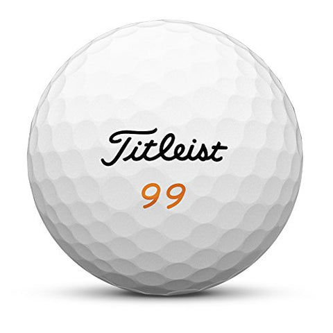 Titleist Velocity Golf Balls, White, Double Digit Play Numbers (One Dozen)