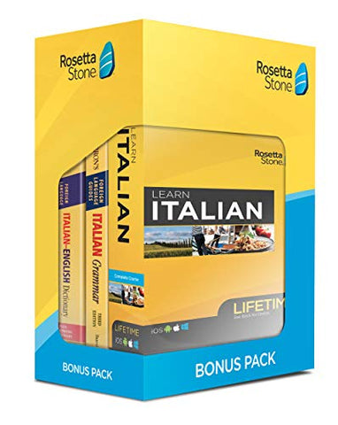 Learn English: Rosetta Stone Bonus Pack Bundle (Lifetime Online Access + Grammar Guide and Dictionary Book Set)
