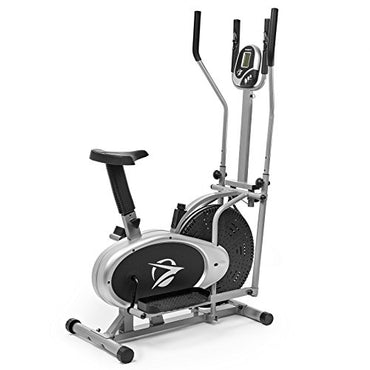 Plasma Fit Elliptical Machine Cross Trainer 2 in 1 Exercise Bike Cardio Fitness Home Gym Equipment