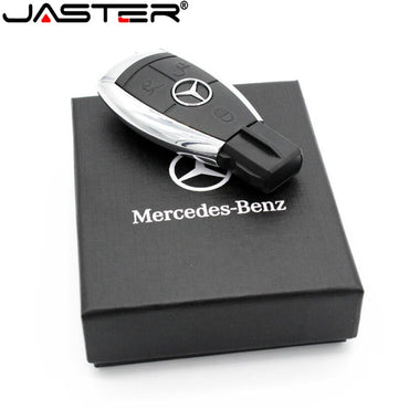 JASTER Car Logo Pen Drive USB Flash drive 64gb Mercedes Benz Car Key USB Stick 64GB 32GB 16GB 8GB Pendrive Memory Stick USB