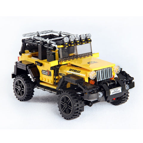 610pcs Offroad Adventure Set Building Blocks Car Series Bricks Toys For Kids Educational Kids Gifts Model Compatible Lego