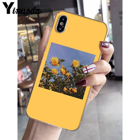 Yinuoda Great art prints blooming flowers Newly Arrived Phone Case for iPhone X XS MAX  6 6s 7 7plus 8 8Plus 5 5S SE XR 10