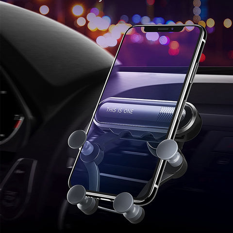 Gravity Car Phone Holder Car Air Vent Clip Mount without Magnetic Mobile Phone Holder GPS Stand For iPhone XS MAX for Xiaomi