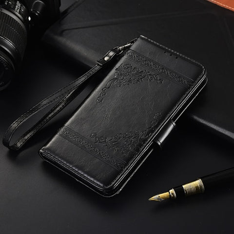 Vintage Wallet Leather Case for Samsung Galaxy J1 2016 J120 J120F SM-J120F Case Card Bag Kickstand Soft TPU Cover