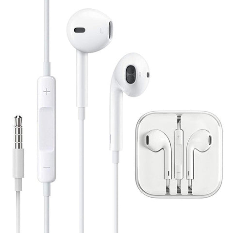 Wired Earphone In-Ear with Mic Vol Control, High Bass Stereo 3.5mm Earphones for Huawei Xiaomi iPhone Samsung S4 S5 S6 S7 S8