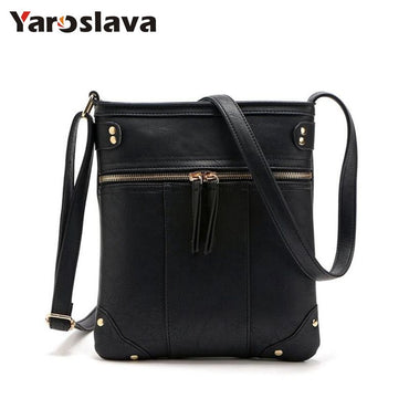 New sale bags for women vintage messenger bag double zipper PU leather handbag cross body bag casual shoulder bags LL44