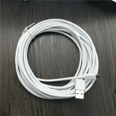 5M/20cm White Micro USB Data Cable Charger Charging Cable V8 for Samsung Phones