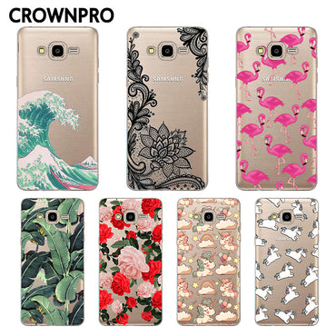 CROWNPRO FOR Coque Samsung J1 2016 Case Cover Soft Silicon Back Capa FOR Funda Samsung Galaxy J1 2016 Case J120 J120F 4.5""