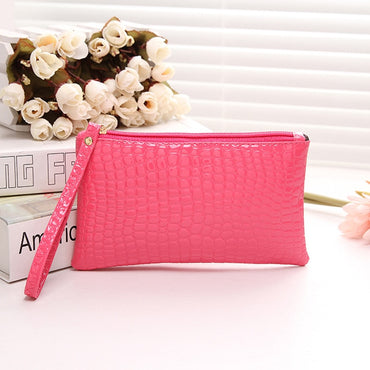 Tikitaka New Fashion Womens Wallet Case for iphone Samsung Android Phone Crocodile Leather Zipper Wallet Women Long Design Purse