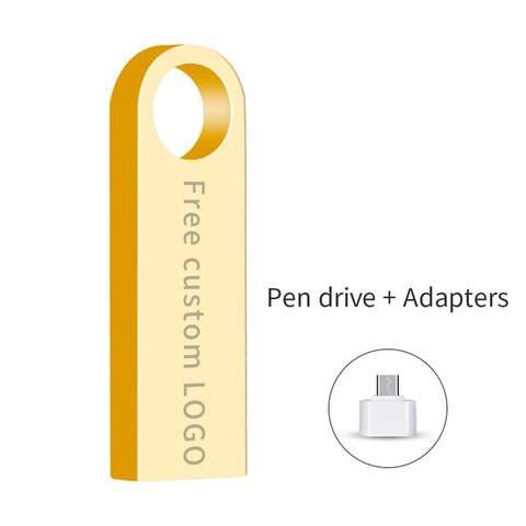 memory stick usb 3.0 metal waterproof usb flash drive 128gb U disk key Pendrive 64GB 32GB 16GB 8GB 4GB Pen Drive Mini Free logo