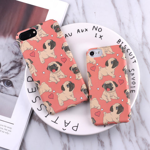 TOMOCOMO Funny French Bulldog Puppy Cartoon Hard PC Phone Case Fundas Coque For iphone 7 7Plus 6 6S 6Plus 8 8Plus X SAMSUNG