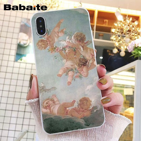 Babaite Renaissance angels Novelty Fundas Phone Case  for iPhone 8 7 6 6S Plus X XS MAX 5 5S SE XR 10 Cover