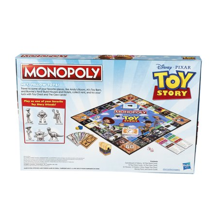Monopoly Toy Story Board Game Family and Kids Ages 8+