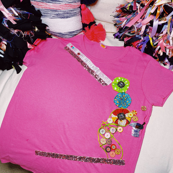 L316 (Pink Cotton Candy) Tshirt Large