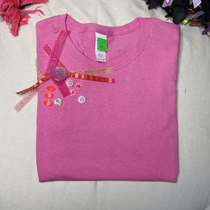 S111     (Pink Cotton Candy)  Tshirt Small