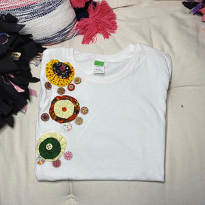 S118  (White Clouds)  Tshirt Small