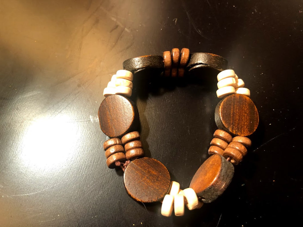 Wooden Stretch Bracelete