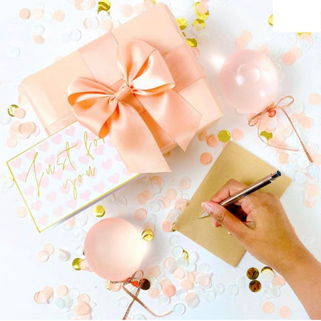 Gift Wrapping Peachy Keen