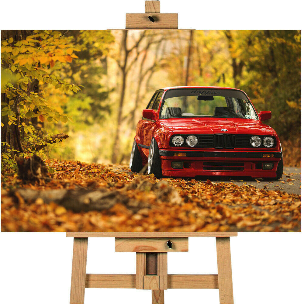 Classic BMW E30 Canvas Print Wall Art Picture