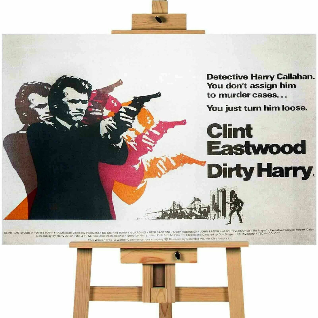 Dirty Harry Movie Clint Eastwood Movie Poster Canvas