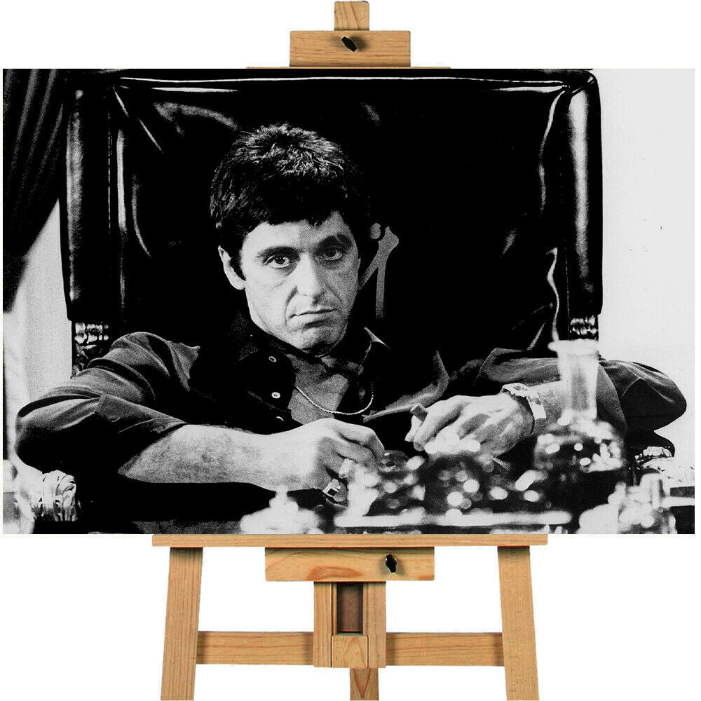 Al Pacino Scarface Scene  Canvas Print Wall Art Poster